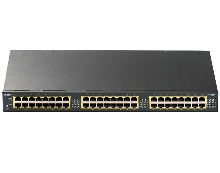 PT-PSE2401G-AT 24-port PoE Midspan